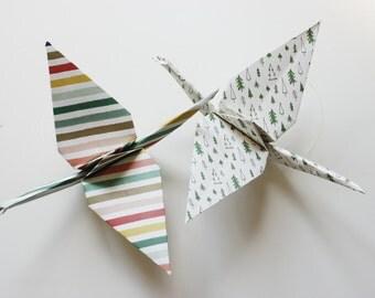 Large Origami Crane Decorations - Christmas