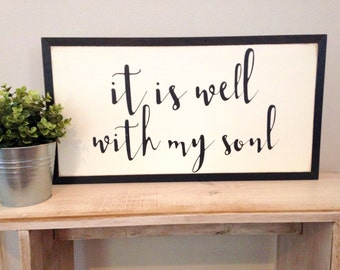 It is well with my soul | 2'x1' | wood sign | gallery wall | home decor | Christian sign