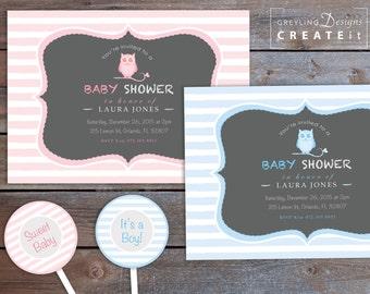 Owl Baby Shower Invitation