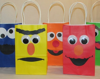 Sesame Street Party Favor Bags