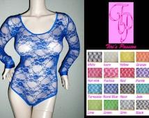 Value Pack - 3 Lace Rompers, Choose Colors, See Through Lingerie, Sheer Bodysuit, Bridal Lingerie, Sexy Wear, Lace Jumpsuit, Burlesque