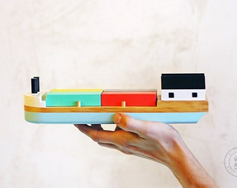 Wooden toy boat, Kids boat, Wooden toy