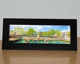 Istanbul, Ortakoy, Istanbul Neighborhood, Ready to Hang Canvas or Framed Canvas, Panoramic, Turkey, Bosphorus Strait, Cityscape, Urban Art