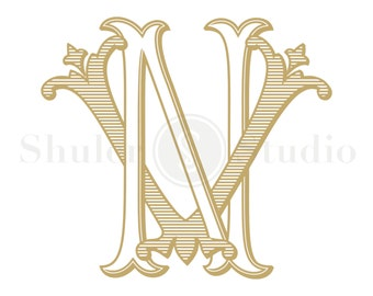 Custom Monogram Design - NV VN - Custom Monogram - Vintage