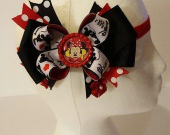 Minnie Mouse Girls Headband/Bow