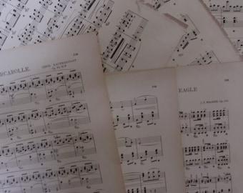 Vintage Sheet Music, Bulk Music Sheets, Loose Music for Crafting, Old Music Sheets, Antique Music, Scrapbooking
