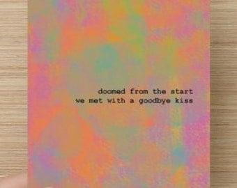 "Postcard - ""Goodbye kiss"""