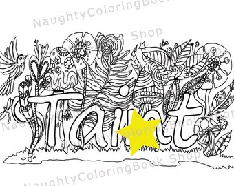 sweary coloring page taint - Naughty Coloring Book