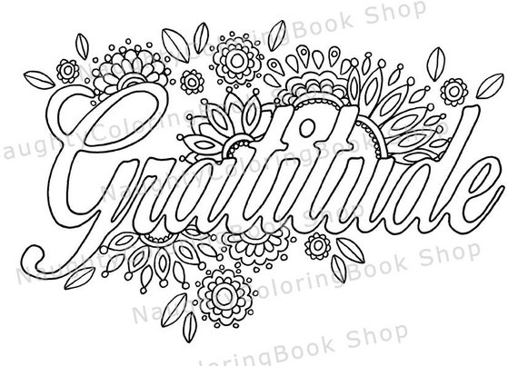 Grateful Coloring Pages Coloring Page