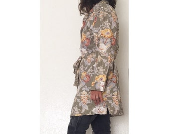 Vintage Lightweight Floral Womens Duster Coat • Women's S/M Chandler Collection Coat