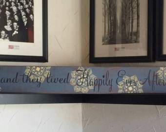And They Lived Happily Ever After Wedding Gift Sign. Handmade Wooden Pallet Sign. Home Decor