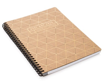 Best Day Ever Gold Foil Letterpress Notebook