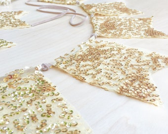 Wedding Ceremony Backdrop///Golden Wedding Flags///LIMITED EDITION