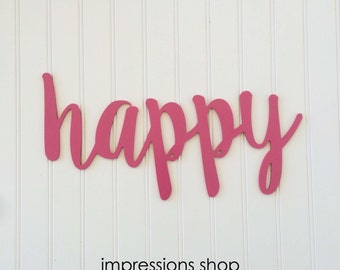"""24"""" Berry Pink Happy Cutout"""