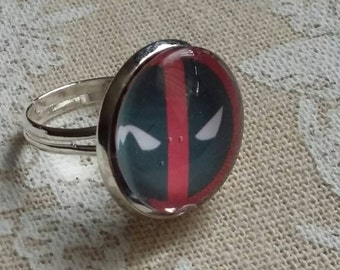 Deadpool silver ring