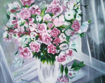 replica oil painting - flowers