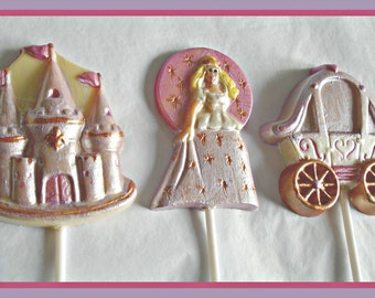 Princess Chocolate Lollipops/Girls Birthday/Princess gift/Castle/Carriage/Princess Party/Girls Party Favour/Fairy Tale/Daughter/Grandaughter