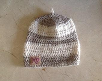 Striped knit hats