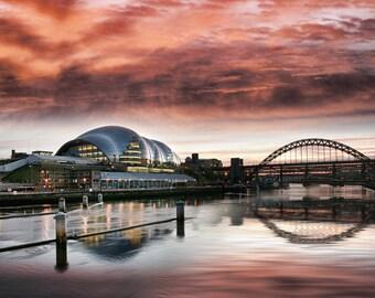 Newcastle Sage And Tyne Bridge