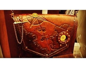 Leather Old World Compass Bag