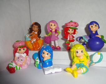 Mister A Gift Strawberry Shortcake And Friends set of 7 plastic Cake Toppers