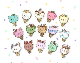 ice cream parlor full menu sticker pack