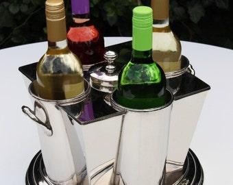 Wine Cooler Champagne Ice Bucket Bottle Wedding Present Christmas Art Deco Style christmas wedding present