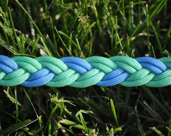 Mint Green/Light Blue Paracord Dog Leash