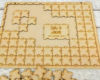 Jigsaw Puzzle Guestbook, Jigsaw Wedding Guest Book, Puzzle Guest Book, Guest Book Alternative, Christening Guest Book, Birthday Guest Book