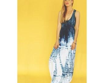 Indigo Maxi Wring Dress