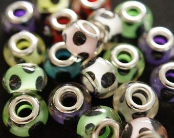 20 European style pandora beads