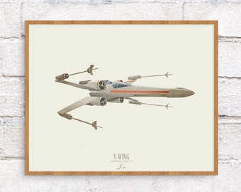 Star Wars X-Wing Illustration - 8 x 10 Art Print