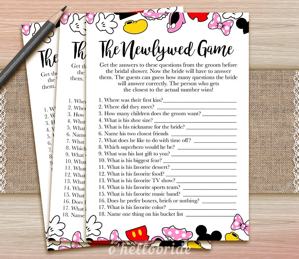 The Newlywed Game Guess What The Groom Said Printable