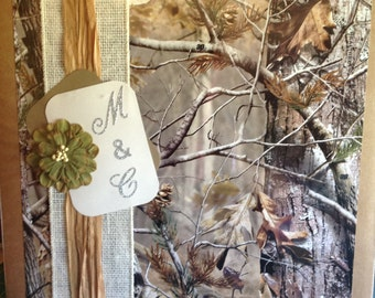 Camo wedding scrapbook album