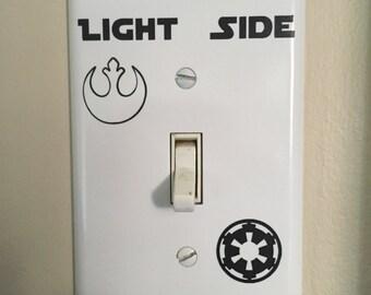 Light Side Dark Side - Star Wars Light Switch Plate - The Last Jedi - Star Wars - Jedi - The Force
