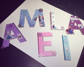 Wall letters Frozen themed-Amelia