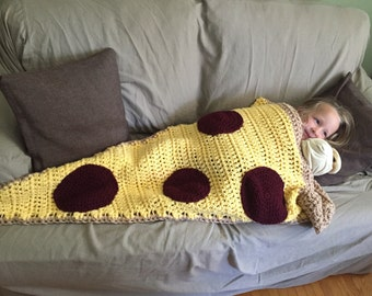Childs Crochet Cocoon Pizza Blanket