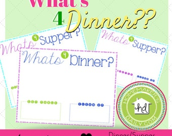 What's for Supper  Printable