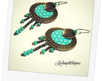 long Bohemian wave earrings