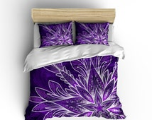 Lightweight Bedding - Water Color Mandala Purple Mandala Comforter Cover - Mandala Duvet Purple Duvet Stars Comforter Watercolor Comforter