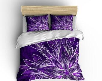 Purple Mandala Duvet - Water Color Mandala Purple Mandala Comforter Cover - Mandala Duvet Purple Duvet Stars Comforter Watercolor Comforter