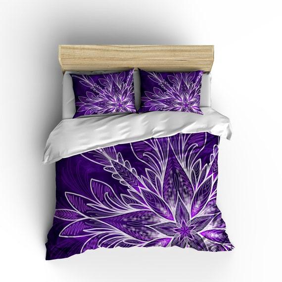 Mandala violet couette housse de couette couleur mandala for Housse de couette mauve
