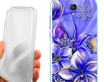 Case cover butterflies and flowers for huawei y560
