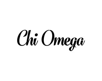 Chi Omega decal vinyl window bumper Sorority greek letters laptop sticker available in 10 different sizes and 30 different colors