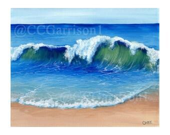 Art Print Crashing Wave giclee 8x10