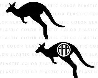 Kangaroo svg - kangaroo clipart - kangaroo monogram vector file - kangaroo digital download svg, eps, dxf, png