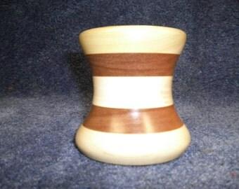 Poplar & Walnut vase