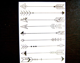 Big Arrow tattoos_set of 18(9*2)