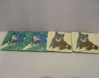 mug or cup coaster set of 4 any picture or wording available