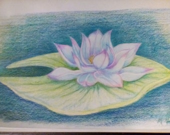 Oil Pastel and colored pencil